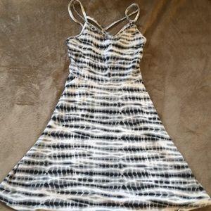 Tie dye pattern dress